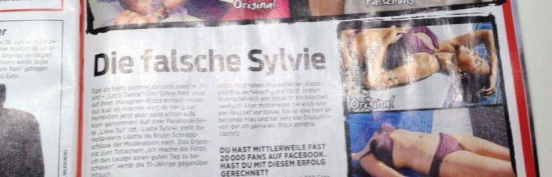 Sylvie Lisette Duitse roddelblad inTouch