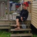 lieve syl sylvie kamperen campinglife badminton