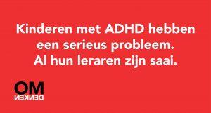 omdenken ADHD theatershow