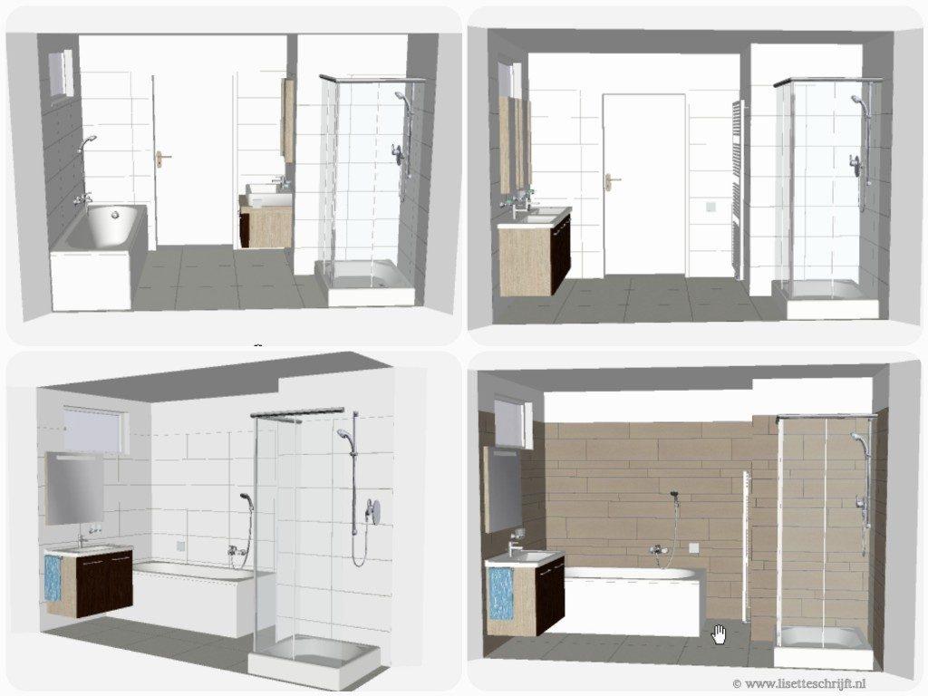een nieuwe badkamer ontwerpen in 3d Lisette Schijft