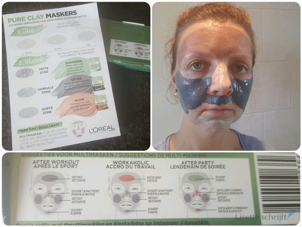 loreal multimaskingselfie instadetox masker Lisette Schrijft