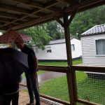 noodweer op vakantie in duitsland op de camping Lisette Schrijft