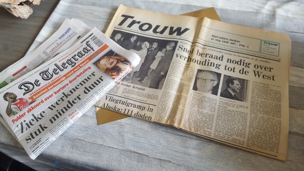 de krant uit het geboortejaar bestellen