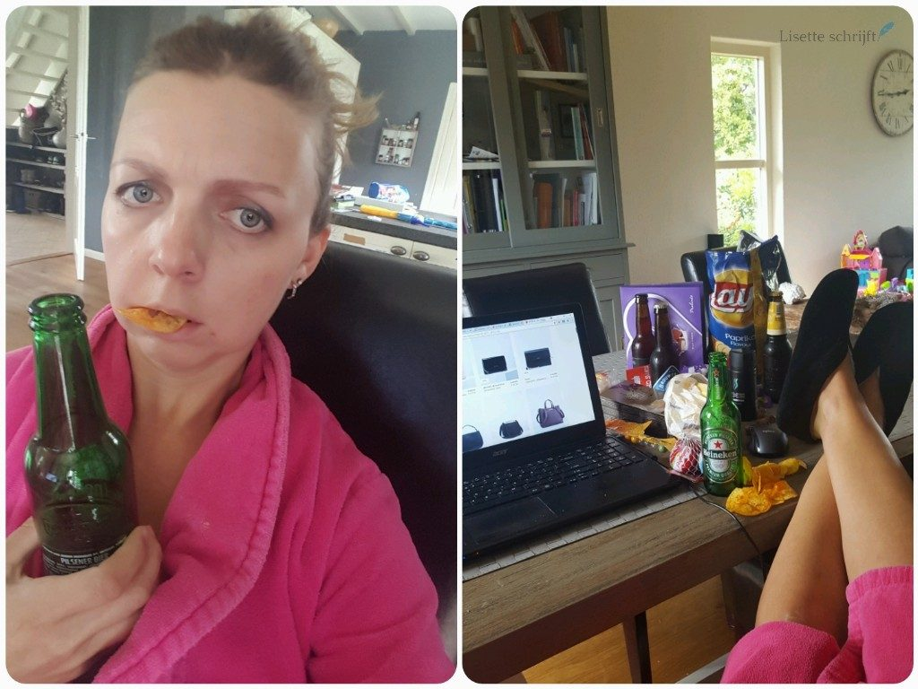 Lieve Syl snack achter de computer Lisette Schrijft