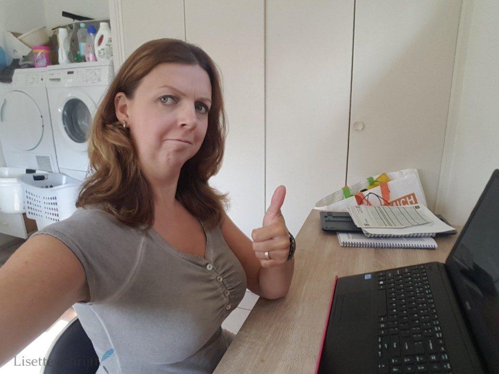kantoor aan huis voor het thuiswerken als blogger Lisette Schrijft