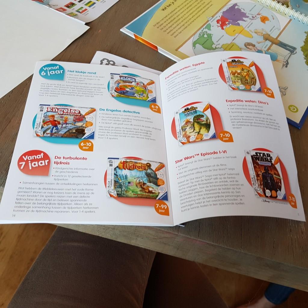 verschillende spellen voor tiptoi Lisette Schrijft