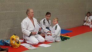 het judo examen met de groene slip Lisette Schrijft