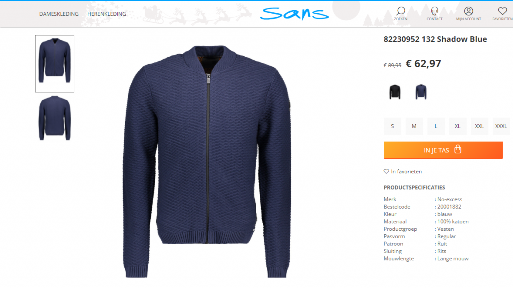 mannen kleding online bestellen bij sans online Lisette Schrijft