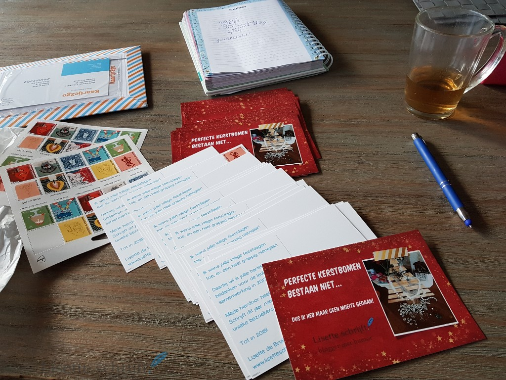 kerstkaarten sturen besteld bij kaartje2go Lisette Schrijft