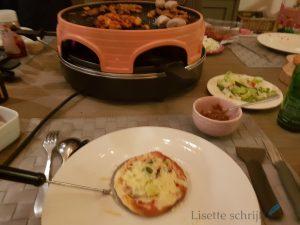 pizzarette uitproberen gourmetten pizza Lisette Schrijft