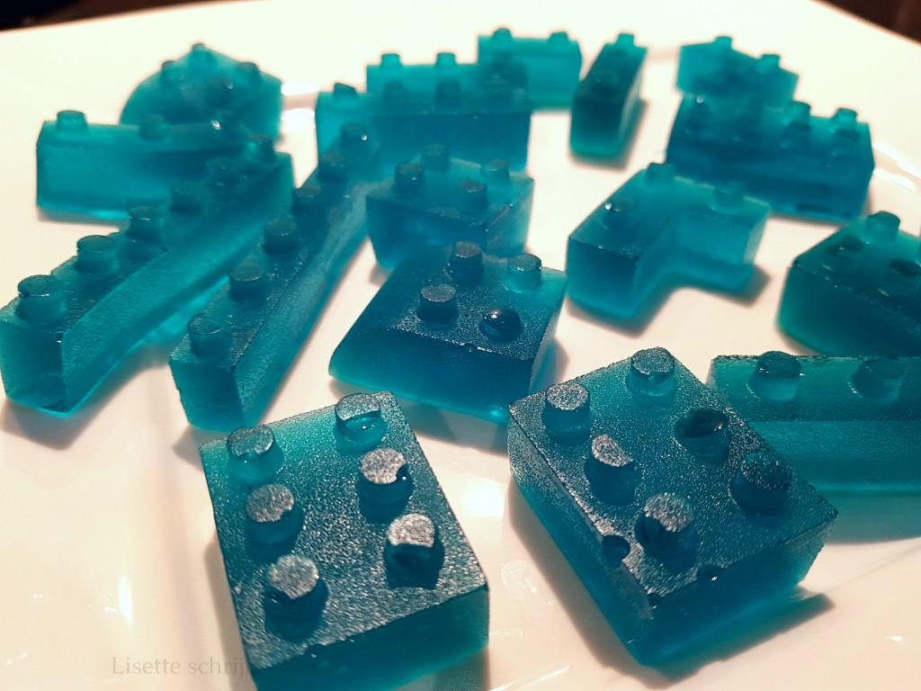 lego snoepjes van gelatine DIY Lisette Schrijft