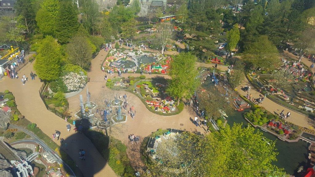 Legoland in Billund Denemarken van bovenaf gezien Lisette Schrijft