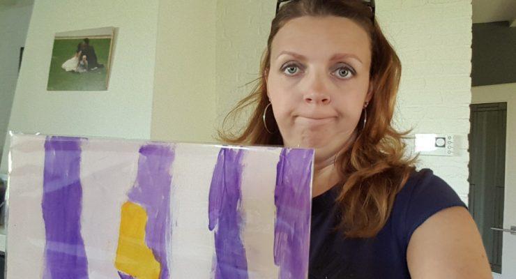 een plank gekregen als moederdagcadeau Lisette Schrijft