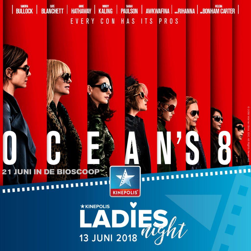 Ocean's 8 ladies night winactie Lisette Schrijft