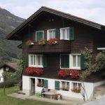chalet in duitsland of zwitserland met geraniums aan het balkon Lisette Schrijft