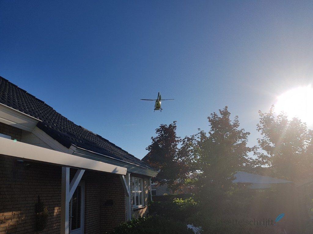 Traumahelikopter aan de Zijtwende in De Lier Lisette Schrijft