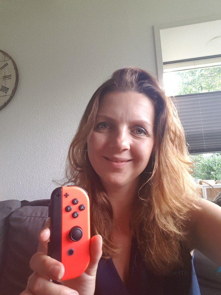 ik speel op de nintendo switch Lisette Schrijft