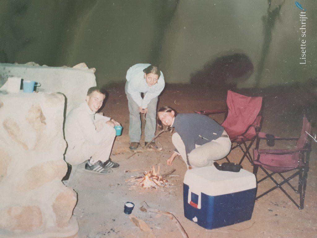 kamperen in Australië en kampvuur maken Lisette Schrijft