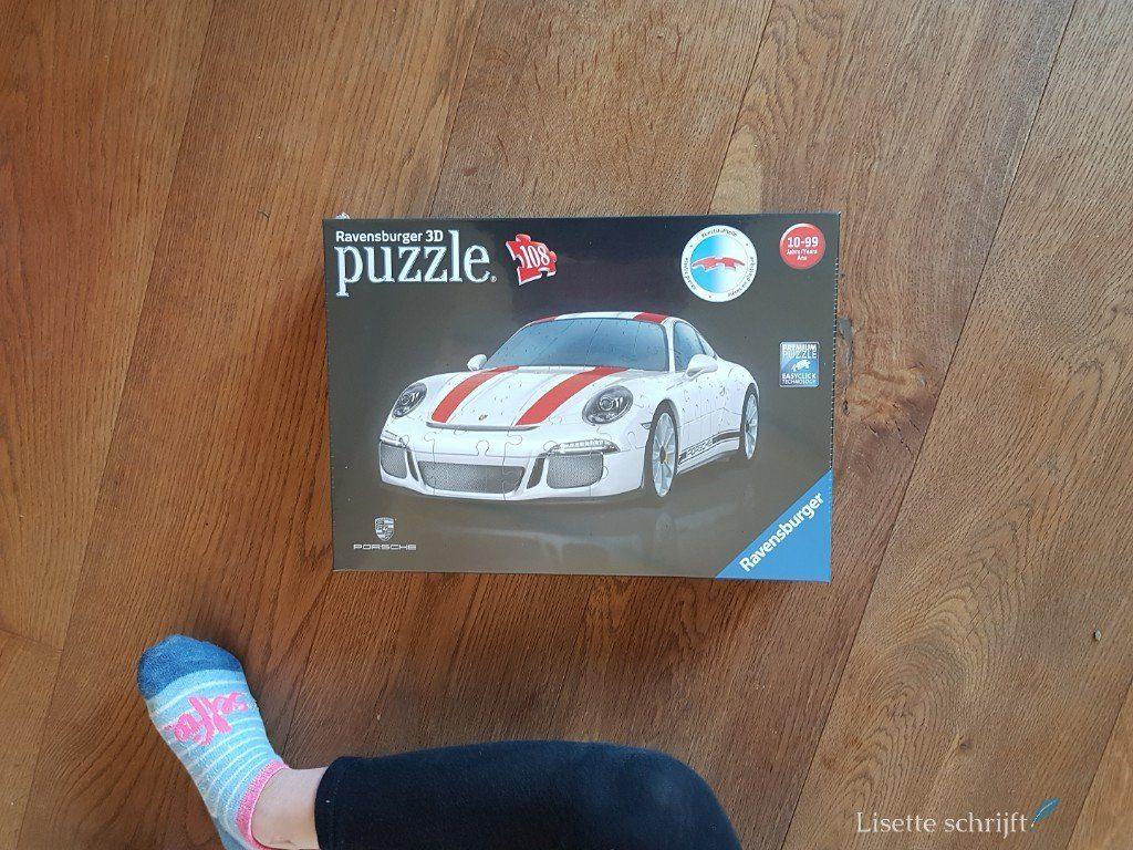 3D-puzzel Porsche van Ravensburger Lisette Schrijft
