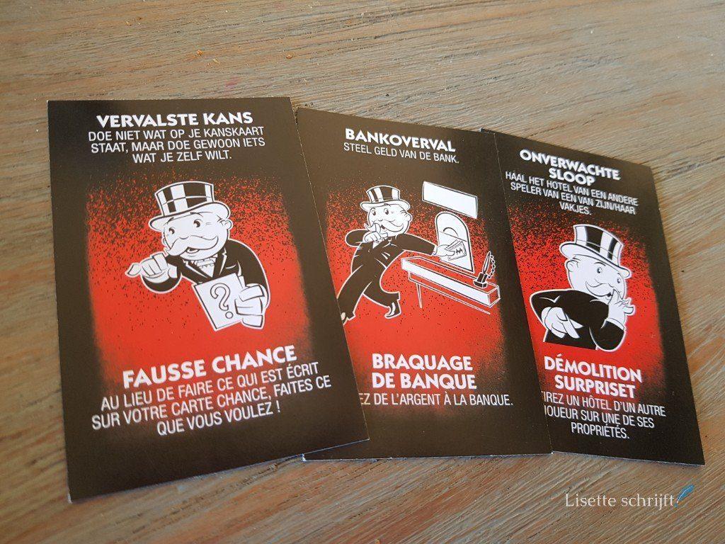 vals spelers kaarten bij monopoly valsspelers editie Lisette Schrijft