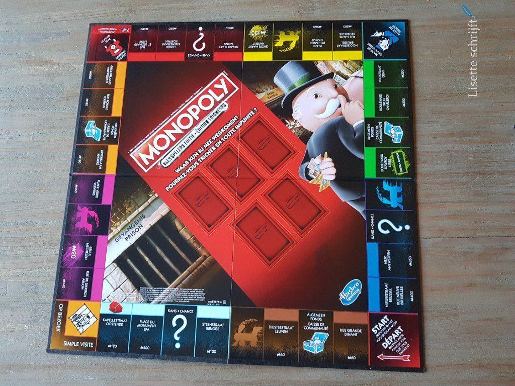 Het speelbord bij Monopoly valsspelers editie
