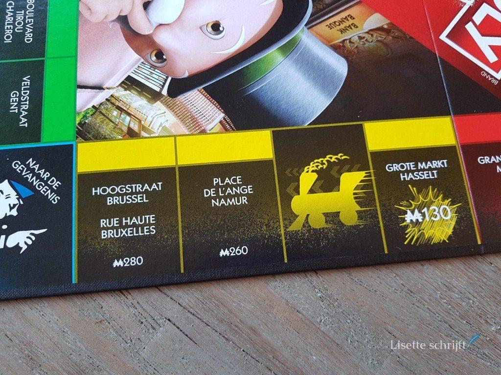De straten bij Monopoly Valsspelers editie zijn uit België.