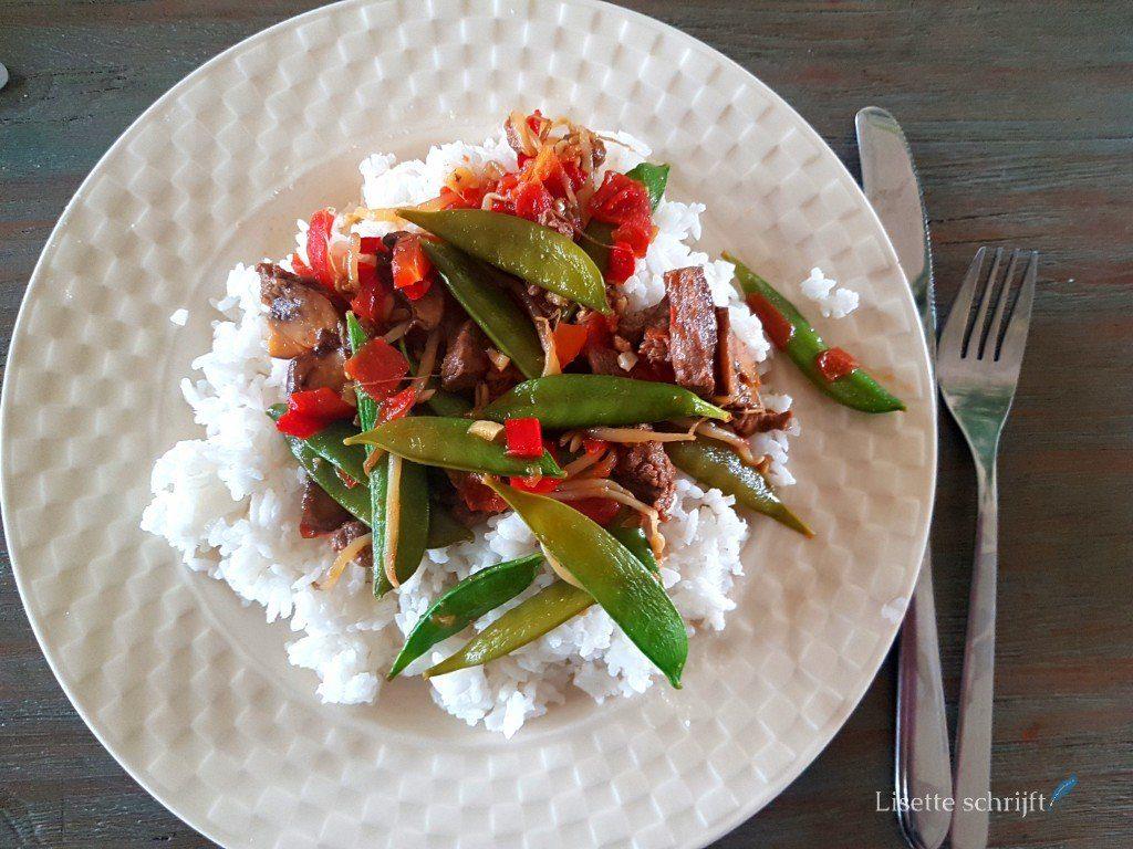 kindvriendelijk recept: biefstukreepjes met rijst
