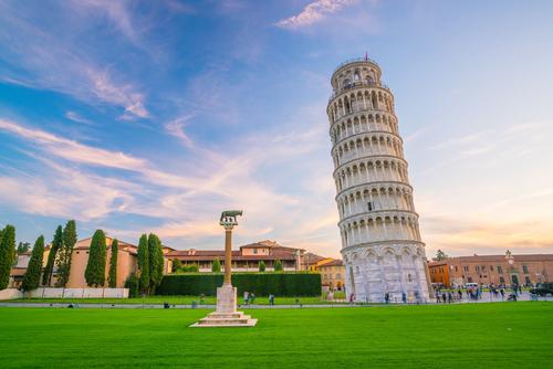de toren van Pisa in Italie