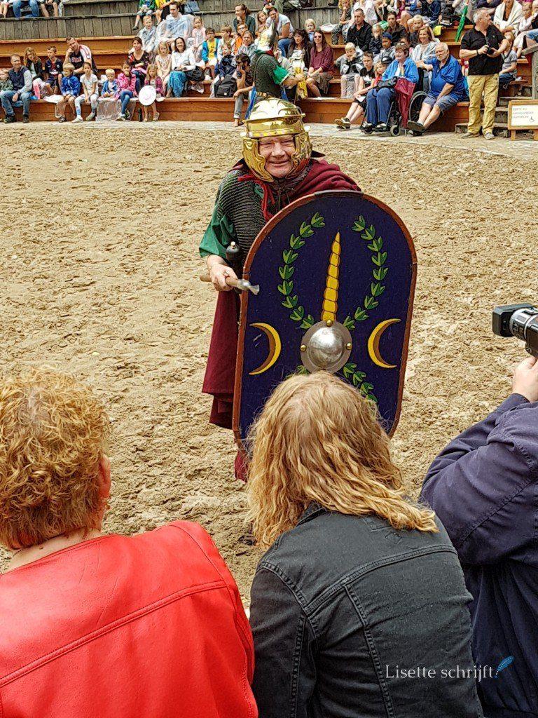 demonstratie romeinen in archeon