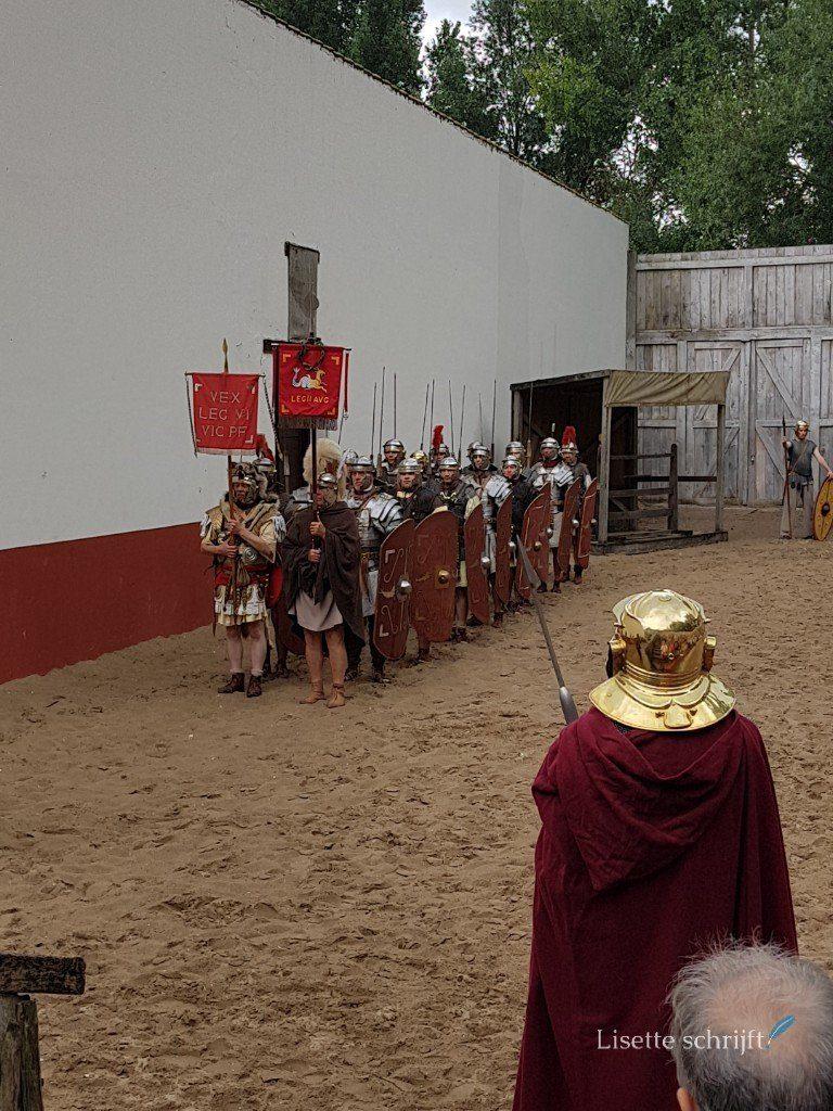 demonstratie romeinen in de arena