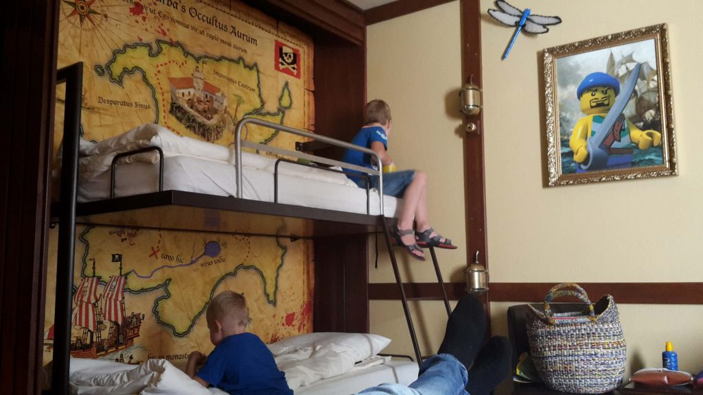 piratenkamer in Legoland Hotel