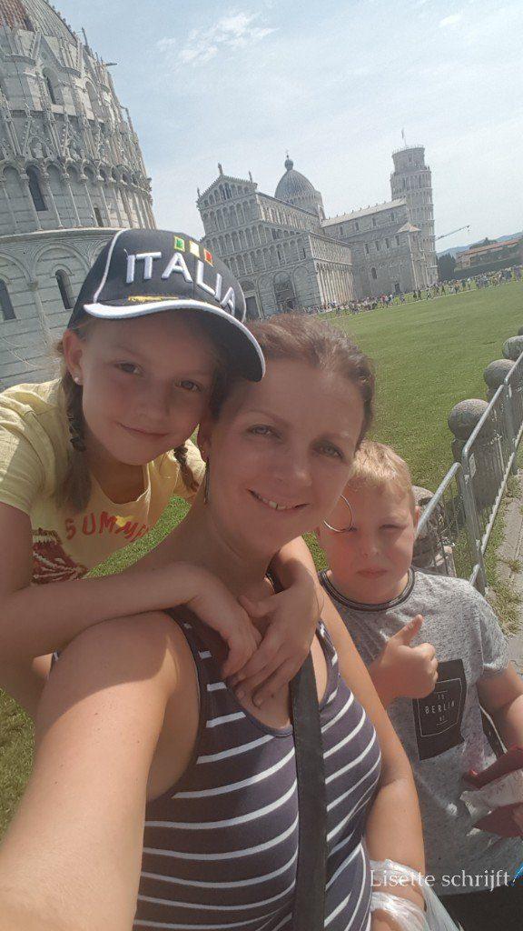 alleen op reis met mijn kinderen naar Pisa