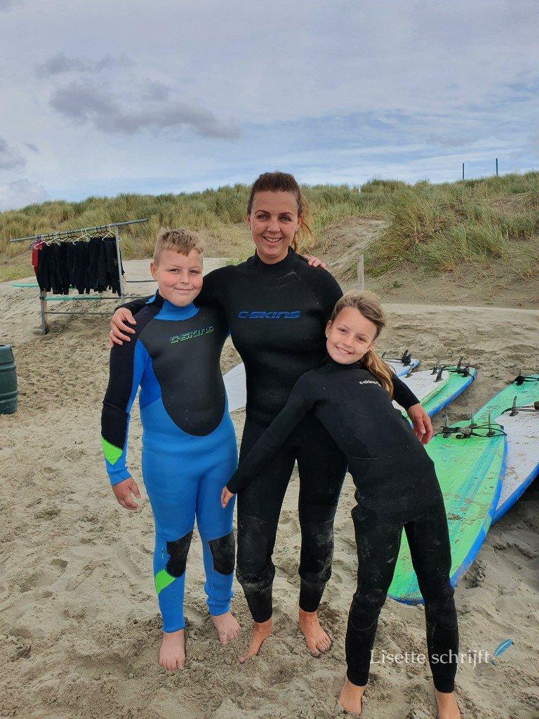 surfen met kinderen surfles